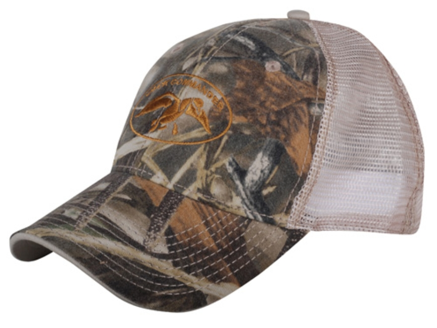 Duck Commander Camo Mesh Fitted Cap Realtree Max-4 and Tan