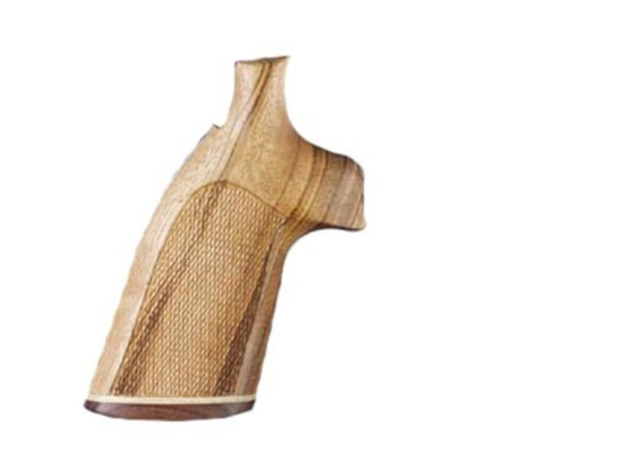 Hogue Fancy Hardwood Grips with Accent Stripe Dan Wesson Small Frame Checkered