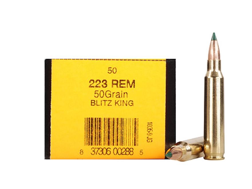 HSM Ammunition 223 Remington 50 Grain Sierra BlitzKing Polymer Tip Boat Tail