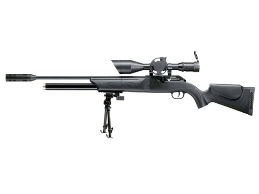 Walther 1250 Dominator Pellet Air Rifle Black Polymer Stock Blue Barrel with Airgun Scope 4-16x56mm Matte