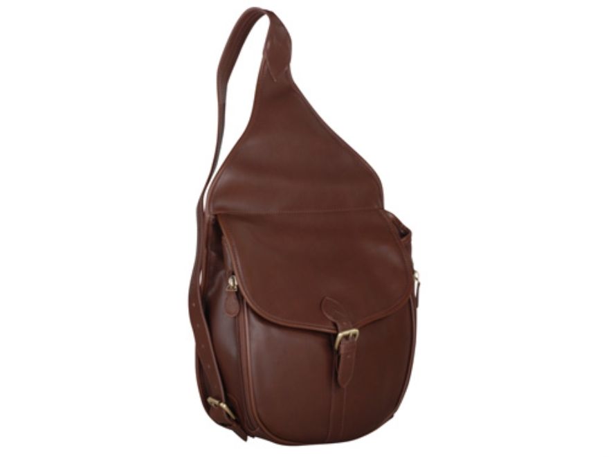 Gun Tote'N Mamas Saddlebag Handbag Leather Mocha