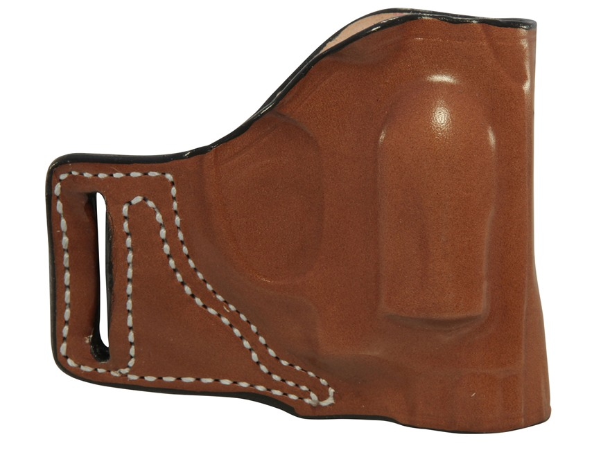 DeSantis L-GAT Outside the Waistband Slide Holster Right Hand Smith & Wesson J-Frame Leather Tan