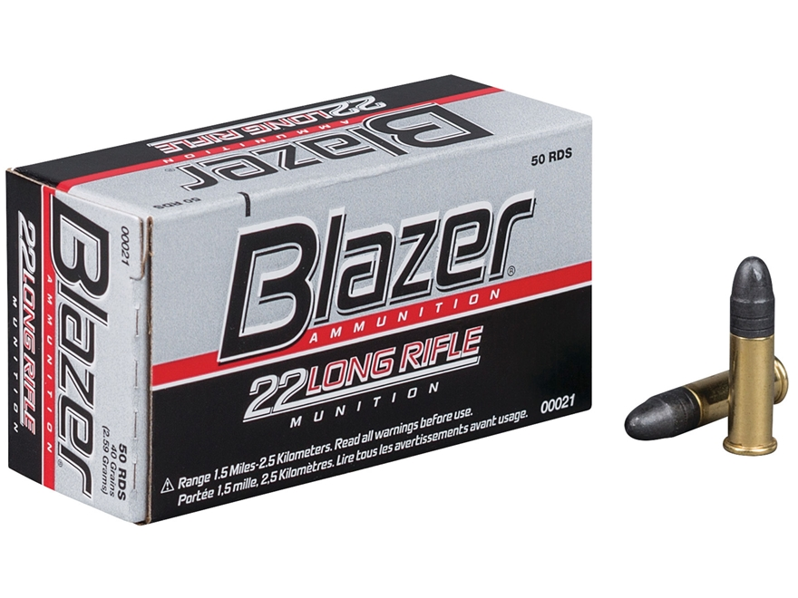 CCI Blazer Ammunition 22 Long Rifle 40 Grain Lead Round Nose