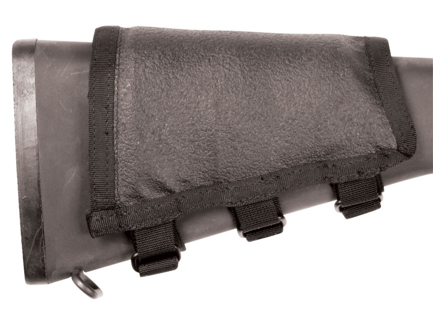 BlackHawk Hawktex Tactical Ambidextrous AR-15 Rifle Cheek Rest Fixed Stock Rifle Nylon Black
