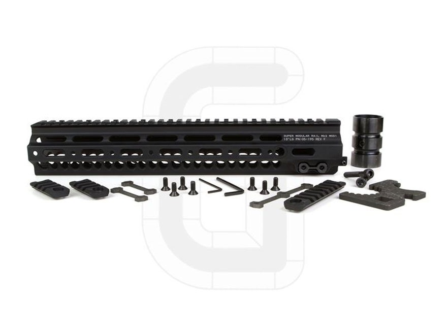"Geissele Super Modular Rail MK2 Free Float Handguard AR-15 Aluminum Black 13"""
