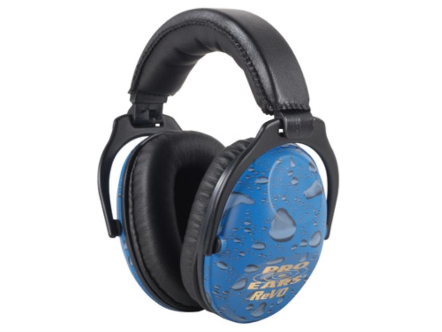 Pro Ears ReVO Earmuffs (NRR 26 dB) Blue Rain