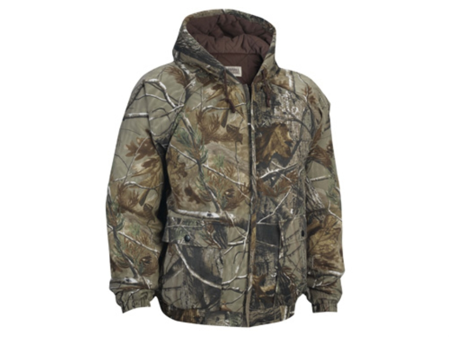 Russell Outdoors Men's Flintlock Jacket Insulated Long Sleeve Cotton Polyester Blend Realtree AP Camo 2XL 50-52
