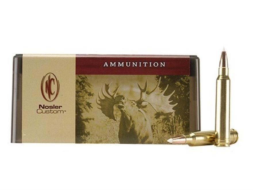 Nosler Custom Ammunition 300 Winchester Magnum 180 Grain AccuBond Spitzer Box of 20