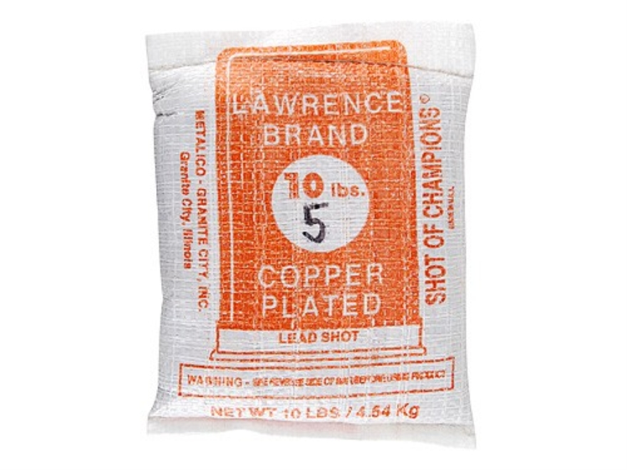 Lawrence Copper Plated Lead Shot #5 10 lb Bag