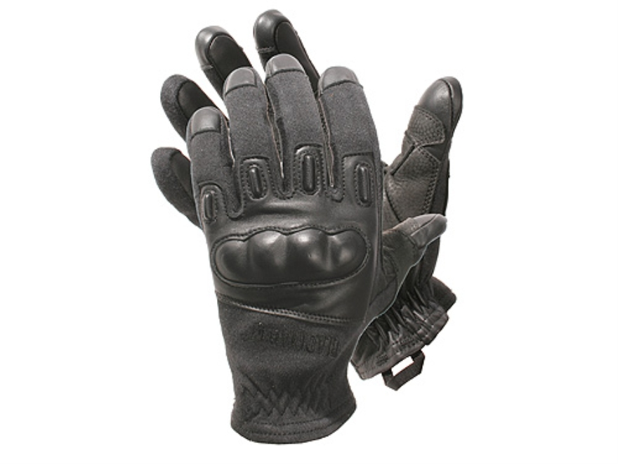 BLACKHAWK! Fury Commando HD Gloves Leather Nylon and Kevlar Black Large