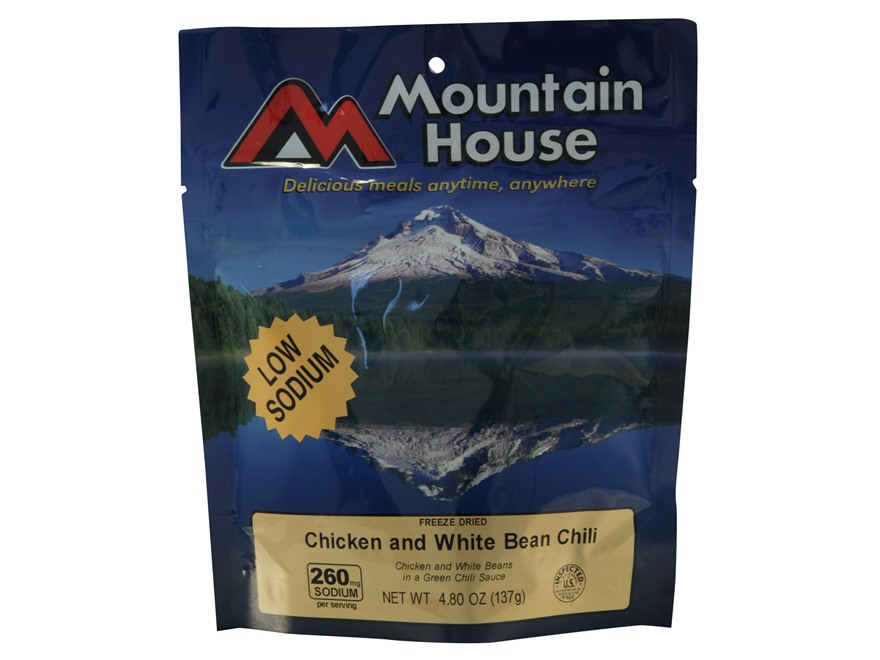 Mountain House Low Sodium White Bean and Chicken Chili Freeze Dried Food 2.5 Servings