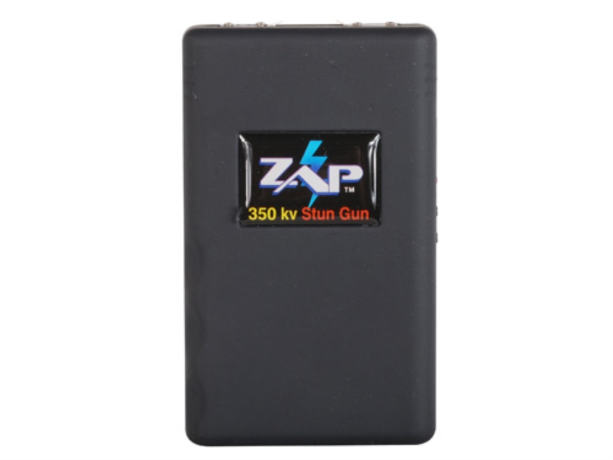ZAP 350,000 Volt Stun Gun uses Three CR123A Batteries (Included) Polymer Black