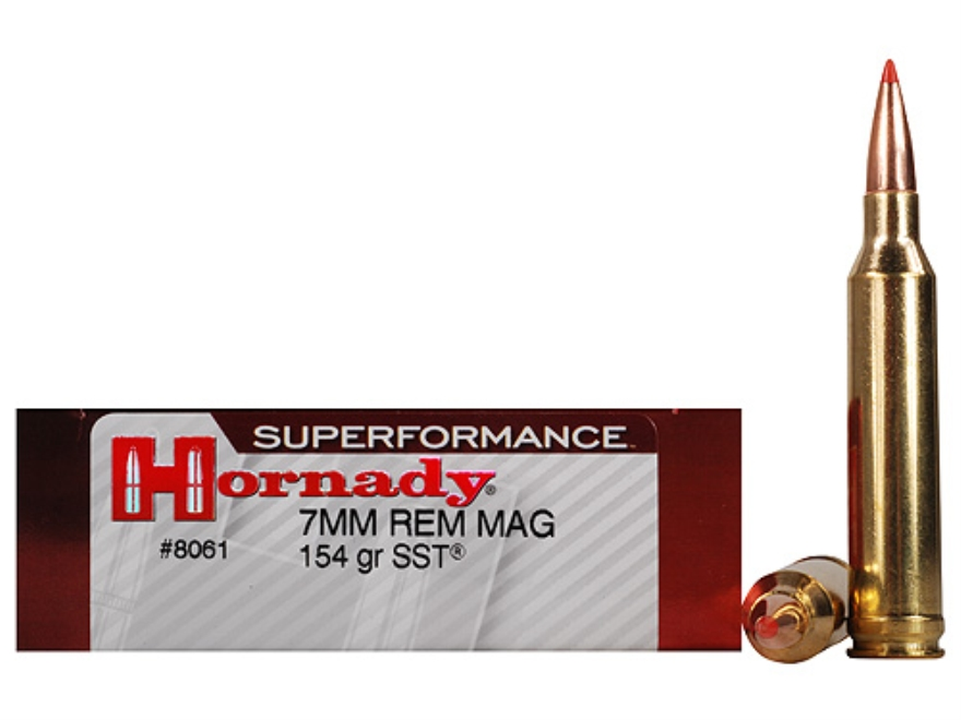 Hornady Superformance SST Ammunition 7mm Remington Magnum 154 Grain SST Box of 20