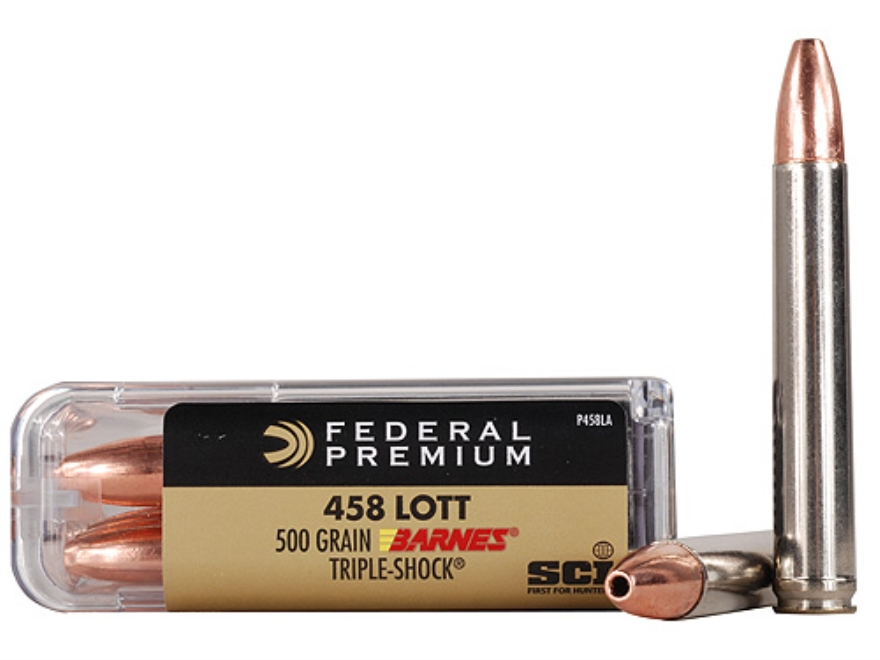 Federal Premium Cape-Shok Ammunition 458 Lott 500 Grain Barnes Triple-Shock X Bullet Hollow Point Lead-Free Box of 20