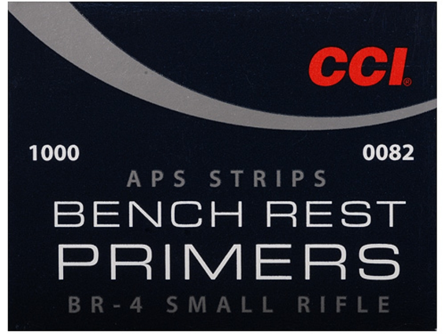 CCI Small Rifle APS Bench Rest Primers Strip #BR4 Box of 1000 (40 Strips of 25)