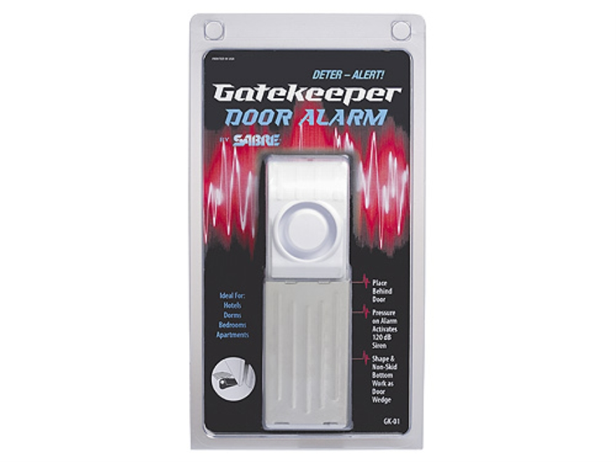 Sabre GateKeeper Alarm Home Security Door Alarm 120 Decibel alarm requires 9 Volt Battery (Not Included)