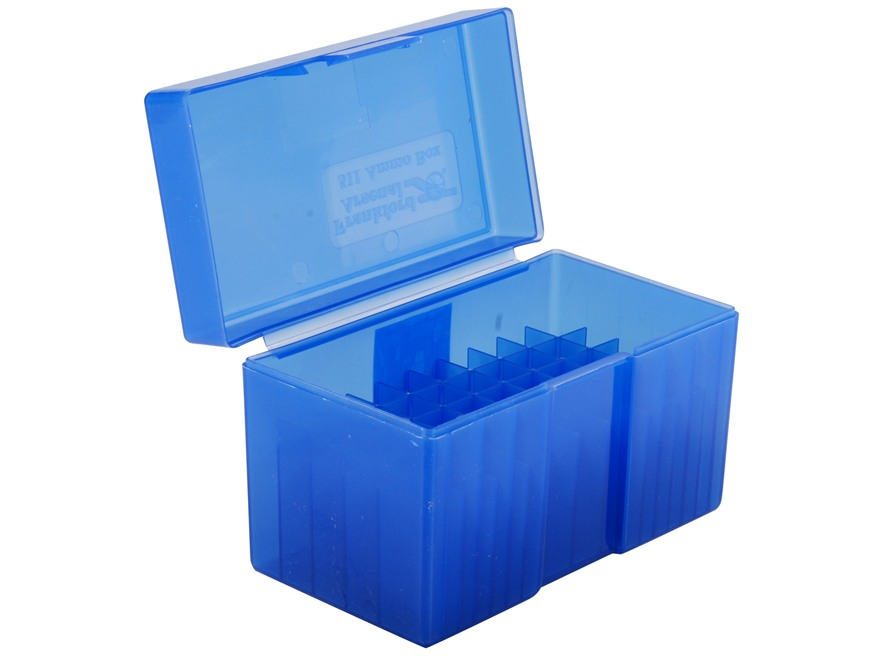Frankford Arsenal Flip-Top Ammo Box #511 300 Remington Ultra Magnum, 375 H&H Magnum 50-Round Plastic Blue Box of 10