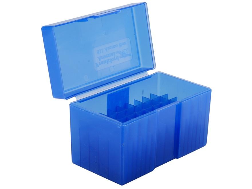 Frankford Arsenal Flip-Top Ammo Box #511 300 Remington Ultra Magnum, 375 H&H Magnum 50-Round Plastic Blue Box of 10