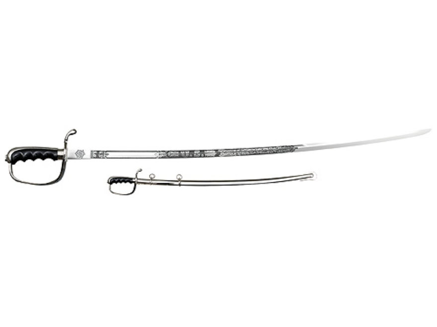 "Cold Steel US Army Officer's Saber 32"" 1055 Carbon Steel Blade Handle Black"