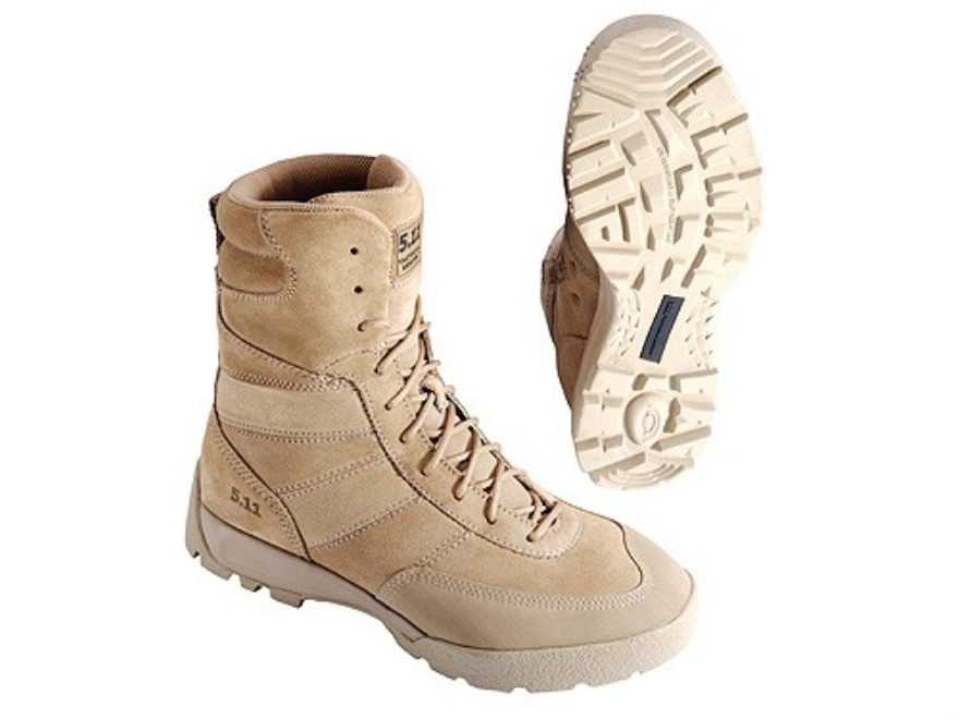 "5.11 HRT Desert 9"" Waterproof Uninsulated Boots Leather and Nylon Coyote Brown Mens"