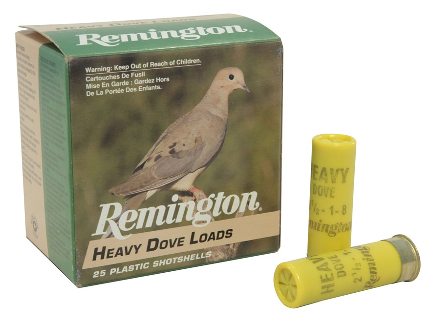 "Remington Heavy Dove Ammunition 20 Gauge 2-3/4"" 1oz #8 Shot Box of 25"