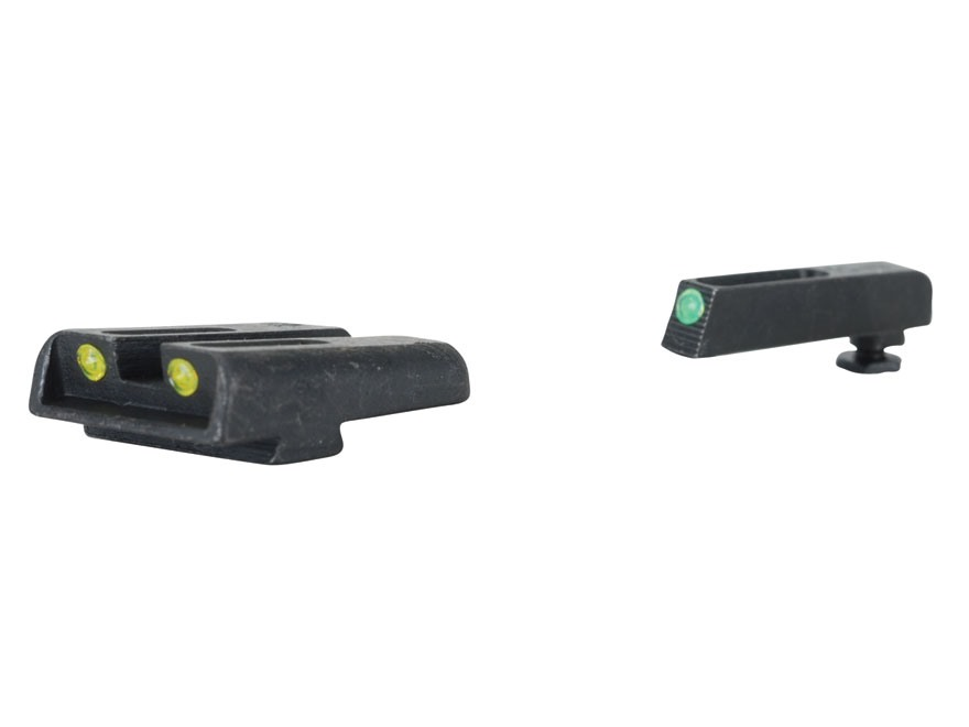 TRUGLO TFO Sight Set Glock 17, 17L, 19, 22, 23, 24, 26, 27, 33, 34, 35, 38, 39 Steel Tritium / Fiber Optic