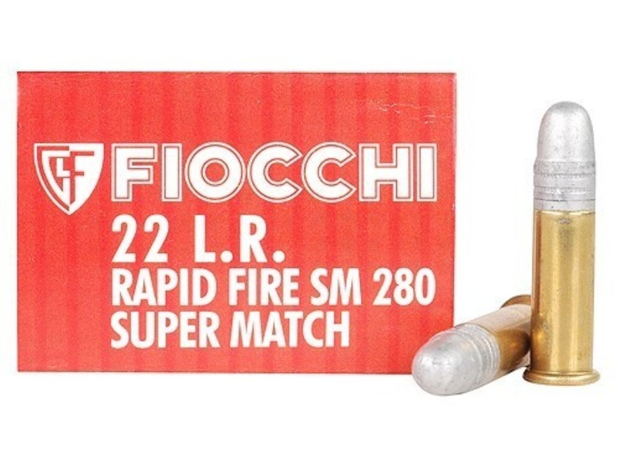 Fiocchi Exacta Rapid Fire Pistol Super Match Ammunition 22 Long Rifle 40 Grain Round Nose Box of 50