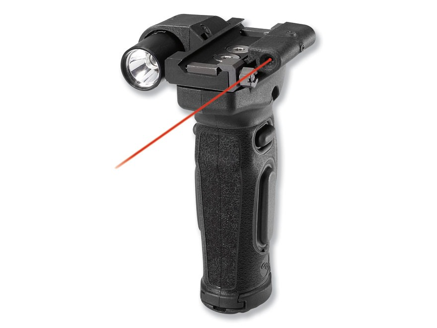 Crimson Trace Lasergrips Modular AR-15 Vertical Forend Grip with Flashlight and Laser Polymer and Aluminum Black