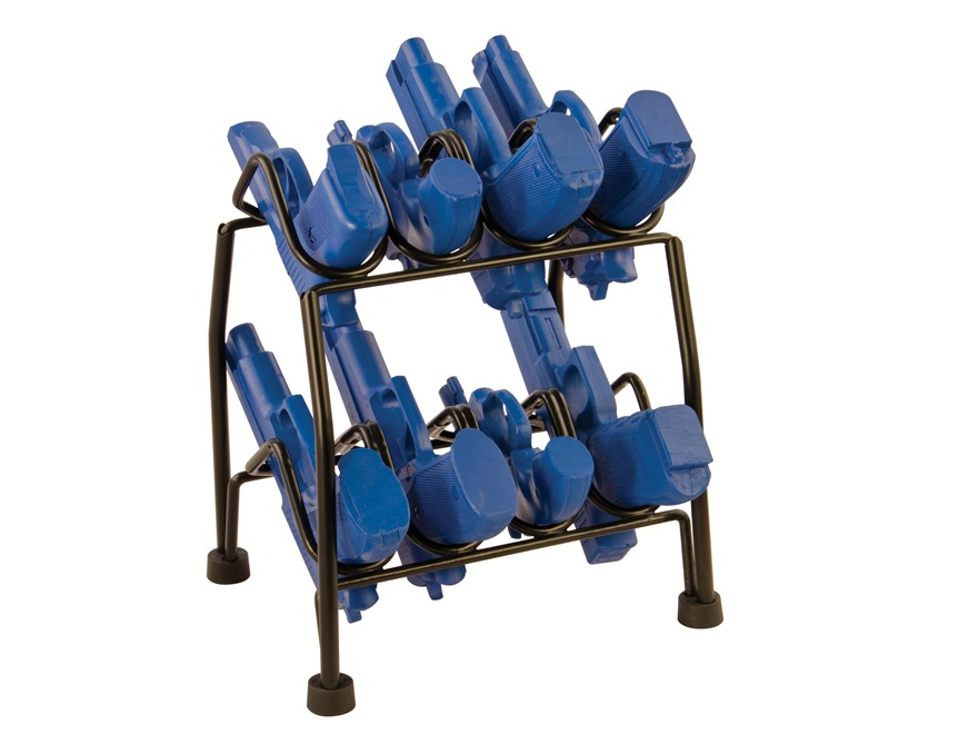 LOCKDOWN Pistol Rack 8-Gun (4-Gun Stackable) Vinyl Coated Steel