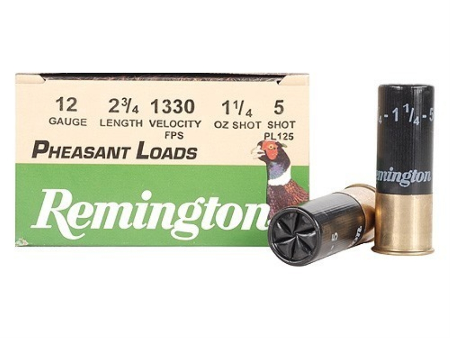 "Remington Pheasant Ammunition 12 Gauge 2-3/4"" 1-1/4 oz #5 Shot Box of 25"
