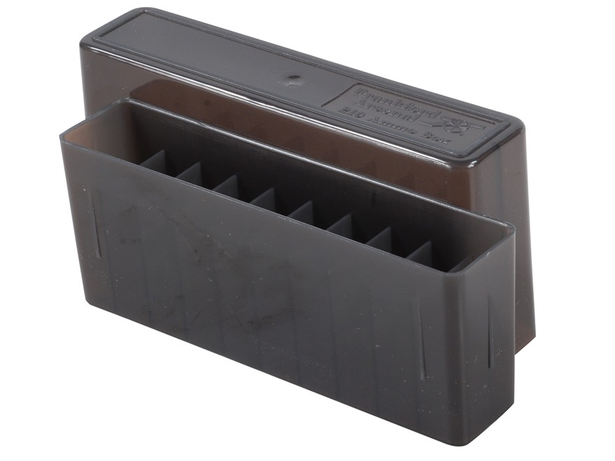 Frankford Arsenal Slip-Top Ammo Box #210 25-06 Remington, 270 Winchester, 30-06 Springfield 20-Round Plastic Smoke Box of 10
