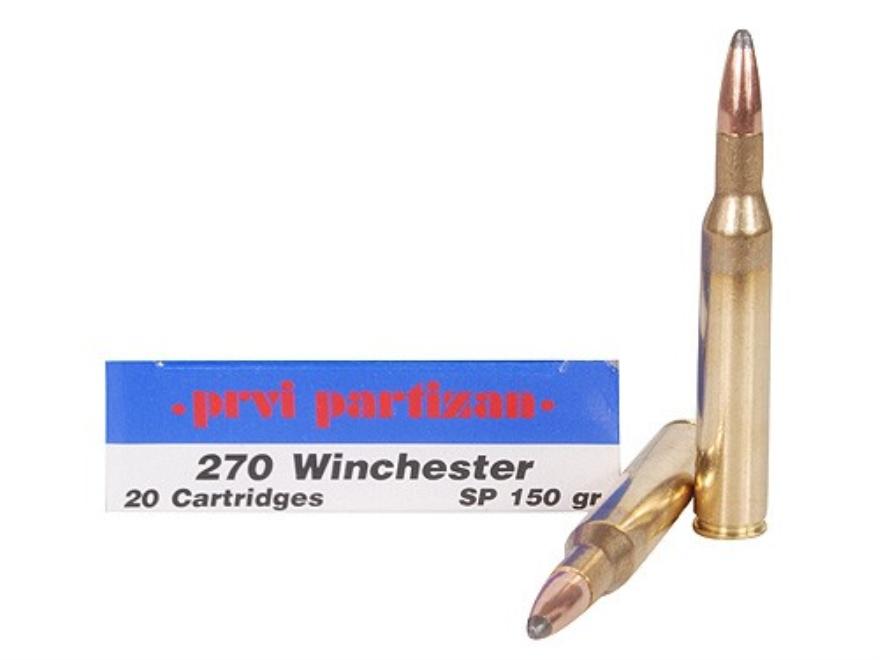 Prvi Partizan Ammunition 270 Winchester 150 Grain Soft Point Box of 20