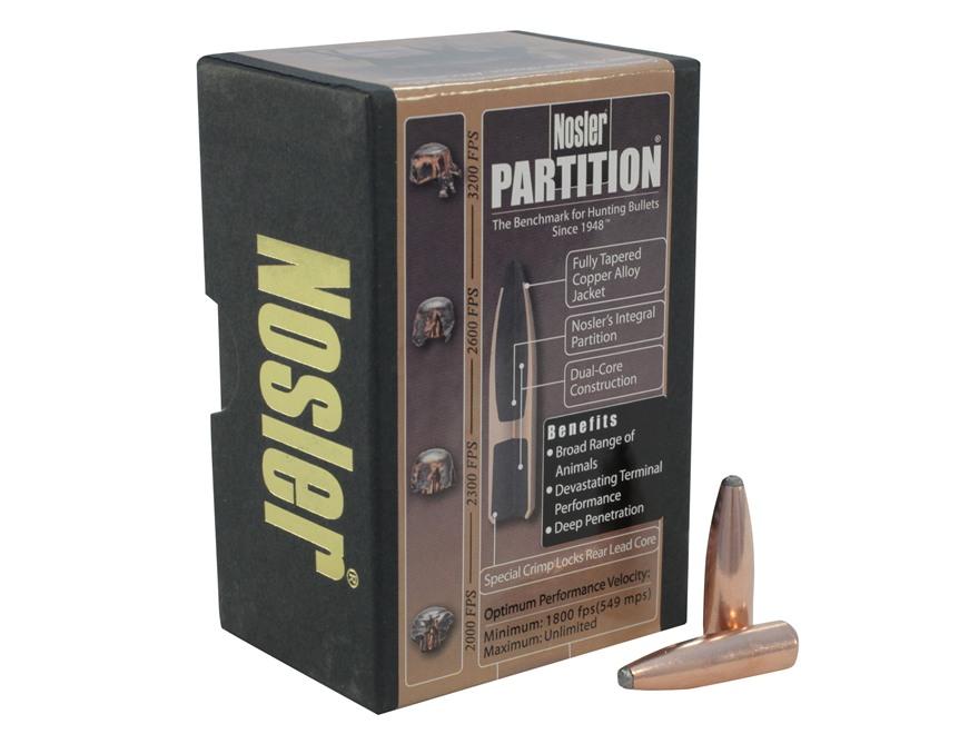 Nosler Partition Bullets 30 Caliber (308 Diameter) 180 Grain Protected Point Box of 50