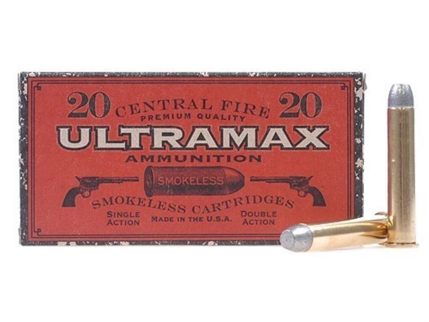Ultramax Cowboy Action Ammunition 45-90 WCF 300 Grain Lead Flat Nose Box of 20