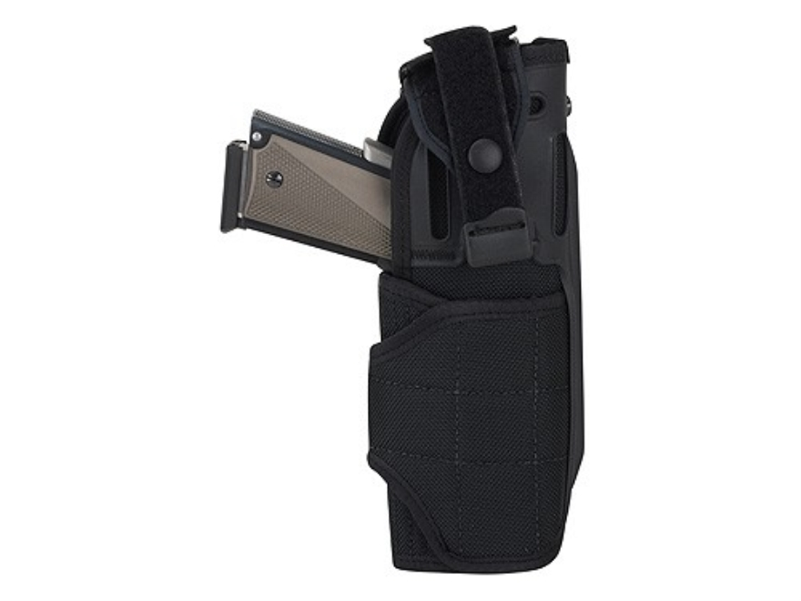 Bianchi T6500 Tac Holster LT Right Hand Glock 20, 21, S&W M&P, HK USP 40, 45, Sig Sauer P220, P226 Nylon Black