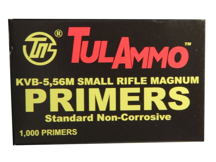 TulAmmo 5.56 NATO Small Rifle Magnum Primers Case of 5000 (5 Boxes of 1000)