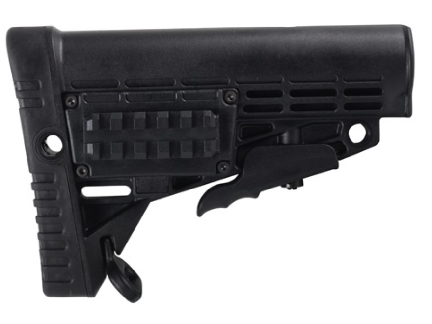 Command Arms CBS Buttstock Collapsible Commercial Diameter AR-15, LR-308 Carbine Synthetic Black