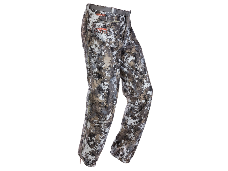 Sitka Men's Downpour Rain Pants Polyester Elevated II Camo