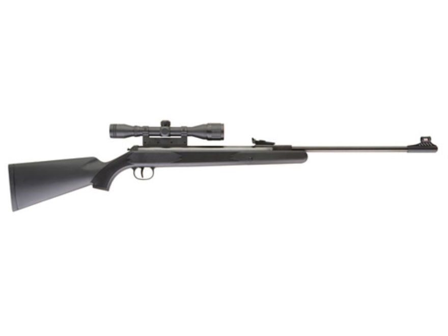 RWS 34 P Air Rifle 22 Caliber Pellet Black Polymer Stock Blue Barrel with Airgun Scope 4x32mm Matte