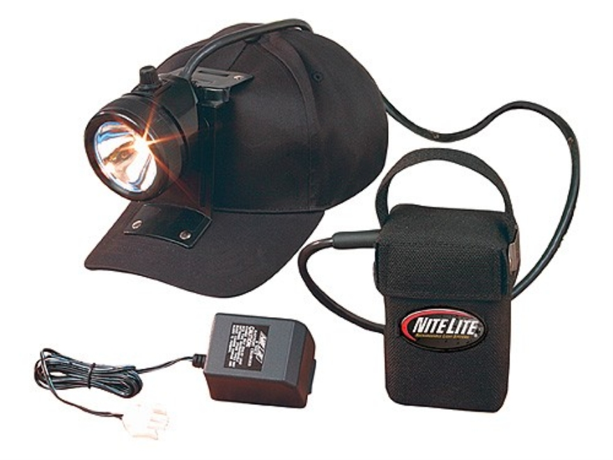 Nite Lite Nite Sport 2 Headlamp Package Incandescent with Rechargeable 6V Battery Polymer Black and Red