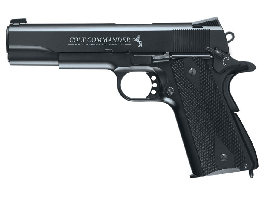 Colt Commander Air Pistol 177 Caliber BB Black