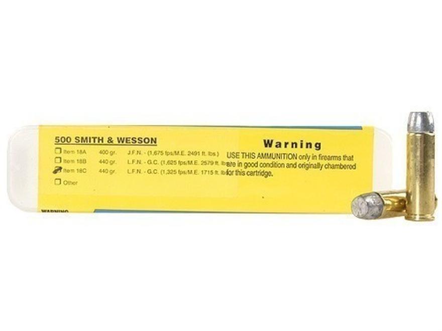 Buffalo Bore Ammunition 500 S&W Magnum 440 Grain Lead Flat Nose Gas Check Box of 20