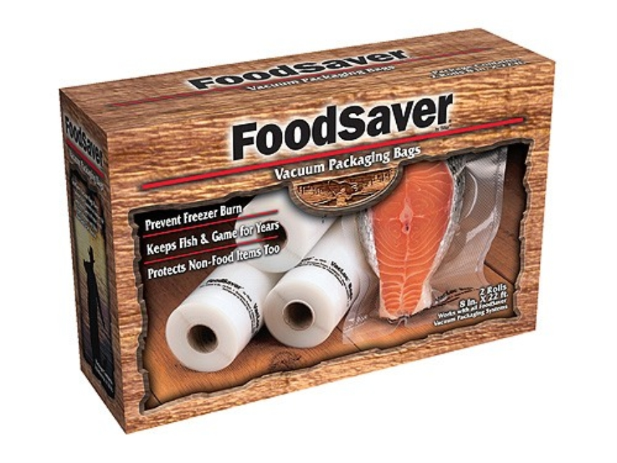 "FoodSaver Gamesaver 8"" Vacuum Packaging Bags 20' Roll Pack of 2"