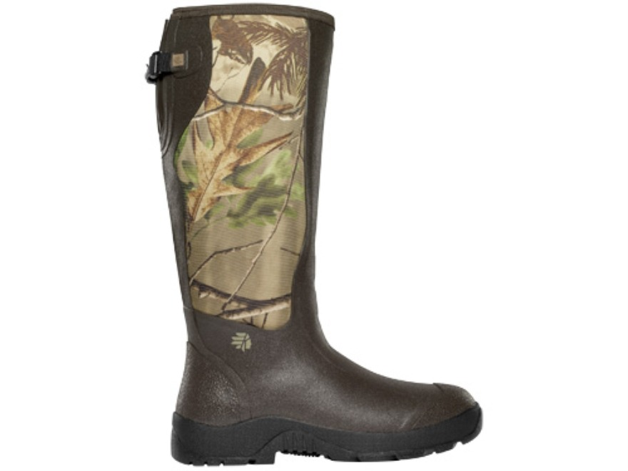 "LaCrosse Alpha Mudlite Snake 18"" Waterproof Uninsulated Hunting Boots Rubber and Neoprene Realtree APG Camo Men's"