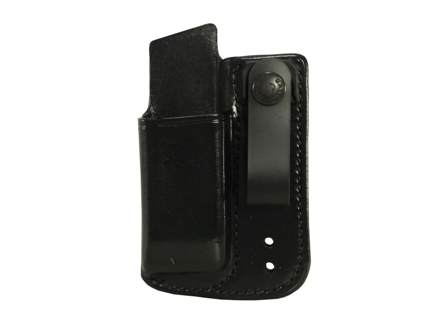 Galco Inside the Waistband Single Magazine Pouch 40 S&W, 9mm Double Stack Polymer Magazine Leather Black