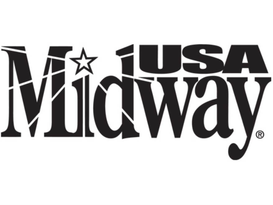 "MidwayUSA Logo Decal Small (4-1/4"" x 1-7/8"") Vinyl Black"