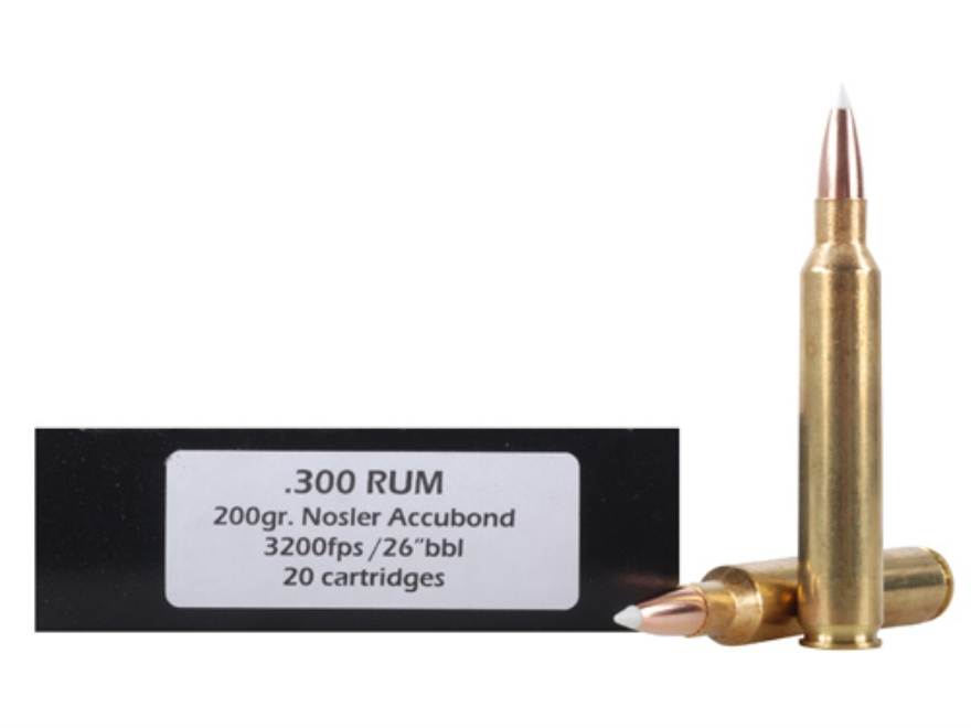 Doubletap Ammunition 300 Remington Ultra Magnum 200 Grain Nosler AccuBond Spitzer Box of 20