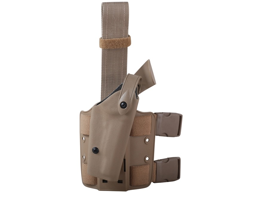 Safariland 6004 SLS Tactical Drop Leg Holster Right Hand 1911 Government with Rail Polymer