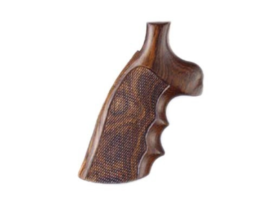 Hogue Fancy Hardwood Grips with Finger Grooves Colt Trooper Mark III Checkered