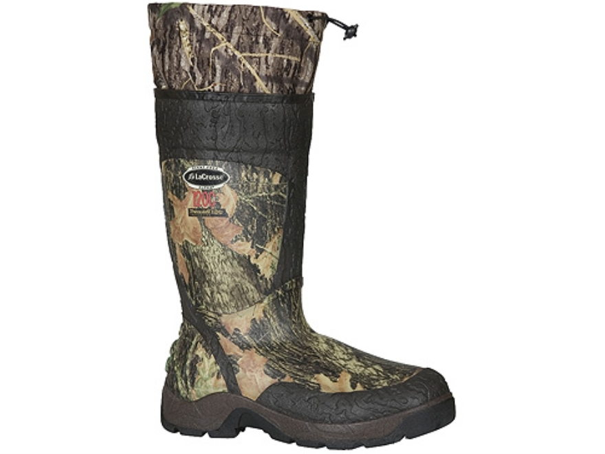 "LaCrosse Alpha SST 18"" Waterproof 1200 Gram Insulated Hunting Boots Rubber Clad Neoprene Mossy Oak Break-Up Camo Men's 6"